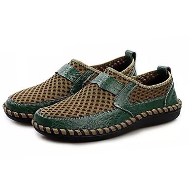 בגדי ריקוד גברים טול קיץ נוחות נעליים ללא שרוכים חום / ירוק / כחול