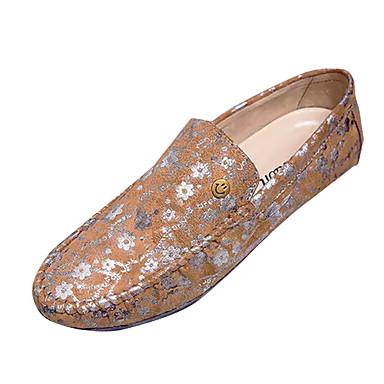 בגדי ריקוד גברים רשת אביב / סתיו נוחות נעליים ללא שרוכים שחור / חום / כחול