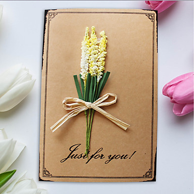 מקפלי צד הזמנות לחתונה 1pc - כרטיסי Thank you כרטיסים ליום האם כרטיזים לברית/בת מילה כרטיסים למסיבת כלה כרטיסים למסיבת אירוסין סגנון
