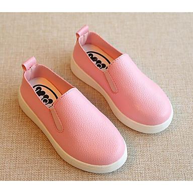 בנים / בנות נעליים מיקרופייבר PU סינתטי אביב נוחות נעליים ללא שרוכים ל שחור / אדום / ורוד