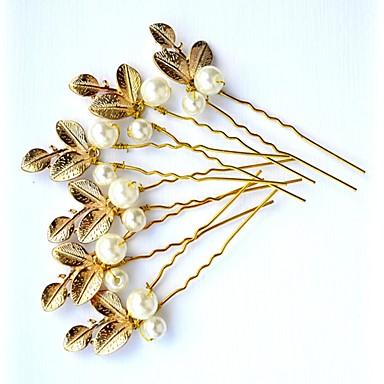 דמוי פנינה / סגסוגת פין שיער עם דמוי פנינה 3 חלקים חתונה / מסיבה\אירוע ערב כיסוי ראש