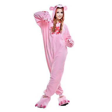 Kigurumi Pajamas Gloomy Bear Bear Raccoon Onesie Pajamas Costume Polar Fleece Synthetic Fiber Pink Cosplay For Animal Sleepwear Cartoon
