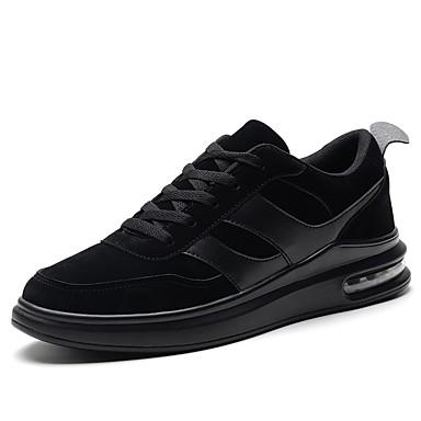 נעליים PU אביב סתיו נוחות נעלי אתלטיקה ל אתלטי קזו'אל שחור אפור חאקי