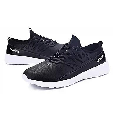 בגדי ריקוד גברים PU חורף נוחות נעלי ספורט שחור / כחול כהה / כחול ים