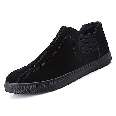 בגדי ריקוד גברים PU אביב / סתיו נוחות נעליים ללא שרוכים שחור