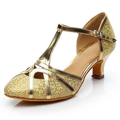 b9179c46d5c9 Γυναικεία Μοντέρνα παπούτσια Λαμπυρίζον Γκλίτερ Τακούνια Προσαρμοσμένο  τακούνι Εξατομικευμένο Παπούτσια Χορού Χρυσό   Ασημί   Εσωτερικό