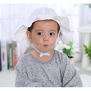מידה אחת לבן / ורוד מסמיק כובעים ומצחיות כותנה בנות פעוטות