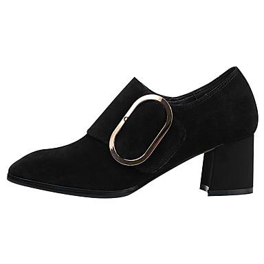 Soirée Chaussures Noir Vin Evénement Talons Eté Bout Evénement Daim Botillons Soirée amp; Femme à carré Talon Printemps Confort Boucle 06534115 Chaussures Bottier amp; qHxY6S