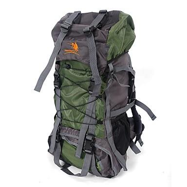 60 L תיקי גב / תיק מטיילים / תרמיל - Back Country, Mountaineering, נסיעות מחנאות וטיולים, צעידה, פעילות חוץ ניילון אדום, ירוק, כחול
