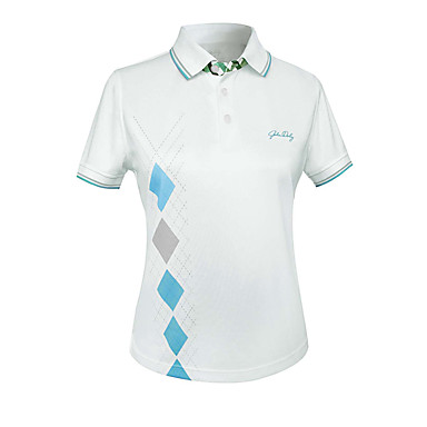 בגדי ריקוד נשים גולף טי שירט ייבוש מהיר לביש נשימה גולף פעילות חוץ