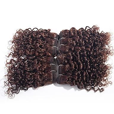 שיער ברזיאלי Kinky Curly שיער בתולי שיער Weft עם סגירה שוזרת שיער אנושי תוספות שיער אדם