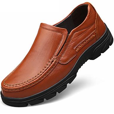 בגדי ריקוד גברים נעליים פורמליות עור נאפה Leather אביב / סתיו נעלי אוקספורד שחור / חום / מסיבה וערב / מסיבה וערב / נעלי נוחות