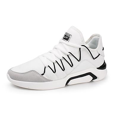 בגדי ריקוד גברים טול אביב / סתיו נוחות נעלי אתלטיקה הליכה לבן / שחור