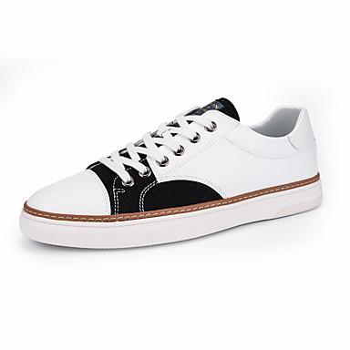 בגדי ריקוד גברים נעלי נוחות PU אביב / סתיו נעלי ספורט אפור / ורוד ולבן / שחור לבן