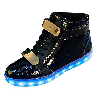 בגדי ריקוד גברים נעליים PU אביב / סתיו נוחות נעלי ספורט לבן / שחור