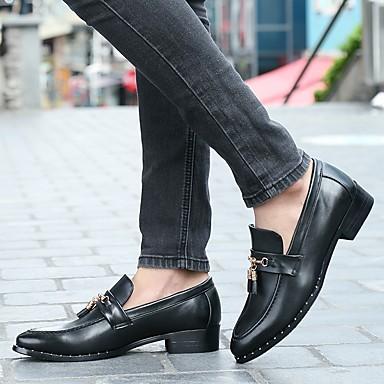 Homme Chaussures Formal / Cuir Verni Printemps / Formal Automne Confort Mocassins et Chaussons+D6148 Noir / Marron / Soirée ; EvéneHommes t 2f2358