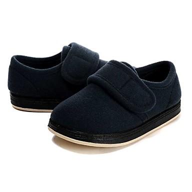 בנים נעליים פליז אביב / חורף נוחות שטוחות סקוטש ל כחול כהה