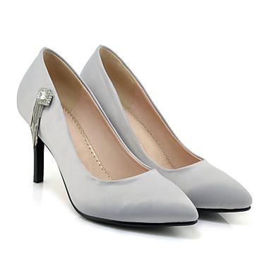 Noir Escarpin Talons à Similicuir Aiguille Chaussures Confort Bout Printemps Eté Talon 06501116 Chaussures Microfibre pointu Basique Femme YSxgCZqwf