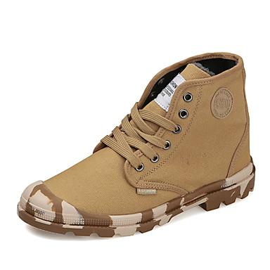 בגדי ריקוד גברים נעליים PU אביב / סתיו נוחות נעלי ספורט שחור / אפור / צהוב