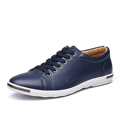 Hombre Zapatos Cuero Otoño Confort Zapatillas de deporte Negro / Blanco y rojo / Negro / blanco n80Bzgcf