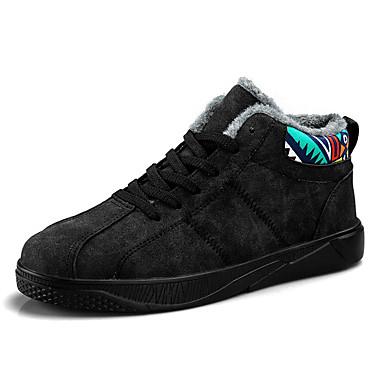בגדי ריקוד גברים נעלי נוחות קשמיר חורף נעלי ספורט שחור / אפור / אדום