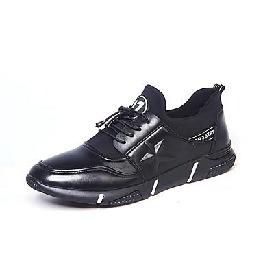 בגדי ריקוד גברים PU אביב / סתיו נוחות נעלי אתלטיקה ריצה שחור