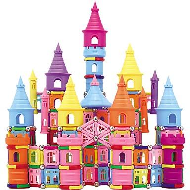 מקלות מגנטיים אבני בניין 660 pcs טירה Fun & Whimsical בנים בנות צעצועים מתנות
