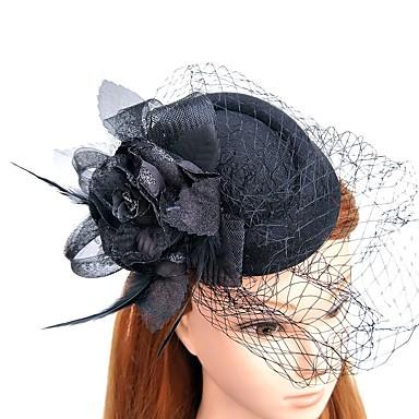 עור / רשת מפגשים / כובעים עם נוצות \ פרווה 1pc חתונה / אירוע מיוחד כיסוי ראש