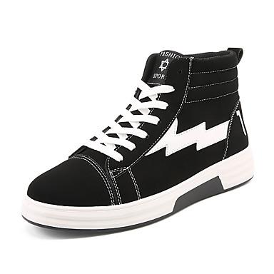בגדי ריקוד גברים נעליים PU אביב / סתיו נוחות נעלי ספורט שחור וזהב / שחור לבן / שחור אדום