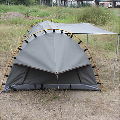 sale retailer c2180 6f455 Deerke 1 person Backpacking Tent Single Layered Poled Camping Tent Outdoor  Windproof, Rain-Proof, Heat Retaining for Camping / Hiking / Camping / ...