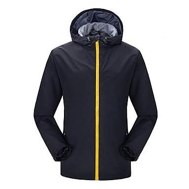 בגדי ריקוד גברים ג'קט לטיולי הליכה חיצוני עמיד מוגן מגשם ז'קטים לחורף ג'קט צמרות אורך מלא רוכסן גלוי מחנאות וטיולים טיפוס רכיבה על
