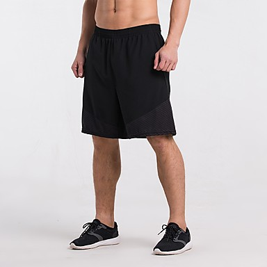 בגדי ריקוד גברים שורט לריצה - שחור / כחול, שחור / צהוב, קשת ספורט פסים מכנסיים קצרים כושר וספורט, חדר כושר, להתאמן לבוש אקטיבי ייבוש מהיר