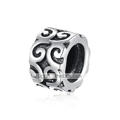 תכשיטים DIY 1 יח חרוזים כסוף שחור עגול חָרוּז 0.7 cm עשה זאת בעצמך שרשראות צמידים