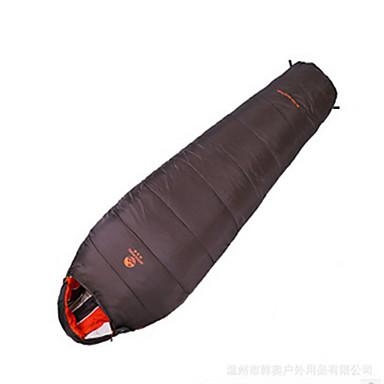 Saco de dormir Ao ar livre 10°C Tipo Múmia Penas de Pato Bem Ventilado Prova-de-Água Portátil A Prova de Vento Á Prova-de-Chuva Dobrável