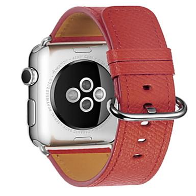 צפו בנד ל Apple Watch Series 3 / 2 / 1 Apple אבזם קלאסי עור רצועת יד לספורט
