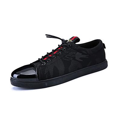 בגדי ריקוד גברים בד אביב נוחות נעלי ספורט שחור / שחור אדום