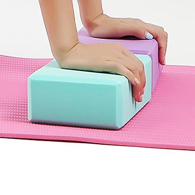 Yogablokk 1 pcs Høy tetthet, Fukttett, Lettvekt, Luktbestandig EVA Støtter og utdyper posisjoner, Balansestøtte og fleksibilitet Til Pilates / Trening / Treningssenter Lilla, Blå, Rosa