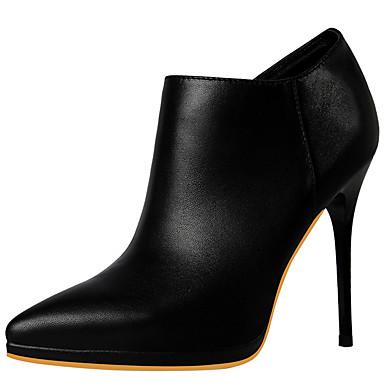 נעליים סינטתי סתיו / חורף גלדיאטור / מגפיים אופנתיים / מגפיי קרב מגפיים עקב סטילטו בוהן מחודדת מגפונים\מגף קרסול / מגפיים באורך אמצע -
