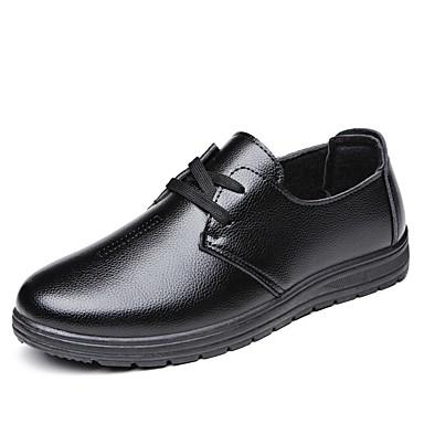 בגדי ריקוד גברים נעליים פורמליות PU אביב / סתיו נוחות נעליים ללא שרוכים שחור / חום