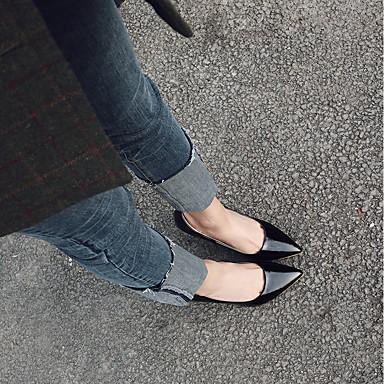 Noir Printemps Talons Escarpin Automne Chaussures 06532766 Bout Bobine Chaussures Talon Foncé Rouge Similicuir Amande à Basique Femme pointu q8O4Ex