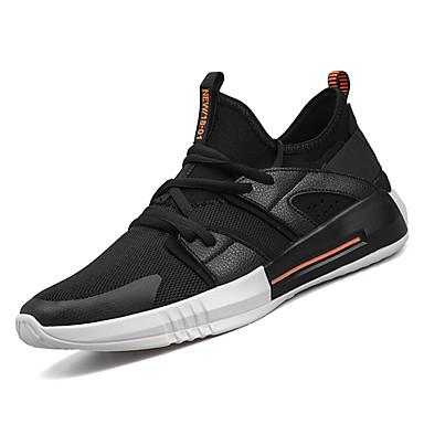 בגדי ריקוד גברים נעליים טול אביב / סתיו נוחות נעלי אתלטיקה ריצה לבן / שחור / אדום