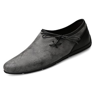 נעלי נהיגה PU אביב / סתיו נעלי צלילה נעליים ללא שרוכים אפור / חאקי / פפיון