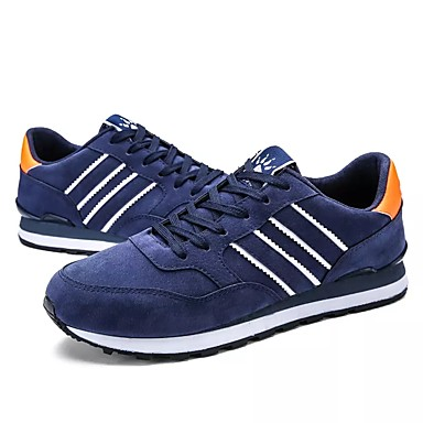 Homens sapatos Couro Ecológico Primavera Outono Conforto Tênis Cadarço para Casual Ao ar livre Cinzento Azul
