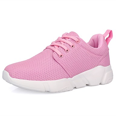 בגדי ריקוד נשים נעליים גומי אביב / סתיו נוחות נעלי אתלטיקה שטוח בוהן עגולה לבן / שחור / ורוד