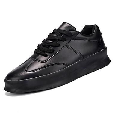 בגדי ריקוד גברים דמוי עור / PU אביב / סתיו נוחות נעלי ספורט לבן / שחור