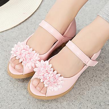 Florista Semicuero Para Adolescentes Otoño Verano Diminutas Zapatos Chica Niña Talones Los xHTqYxgfw