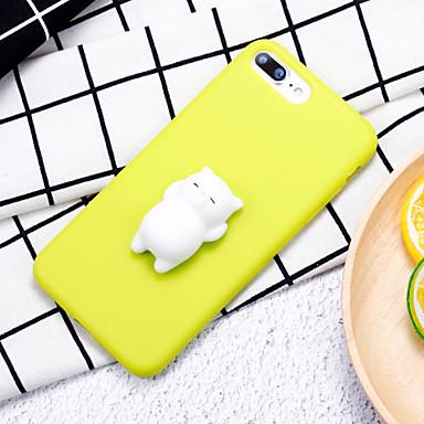 Etui Käyttötarkoitus Apple iPhone 7 Plus iPhone 7 squishy DIY Takakuori Kissa 3D sarjakuva Pehmeä Silikoni varten iPhone 8 Plus iPhone 8