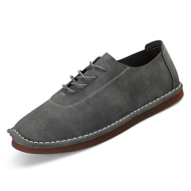 מוקסין PU אביב / סתיו מוקסין נעלי סירה אפור / חום בהיר / חום כהה