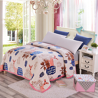 Super SoftPrinted Floral Polyester Blankets