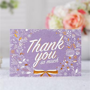 מקופל הזמנות לחתונה 20 - כרטיסי Thank you סגנון קלאסי נייר עם תבליטים דוגמא \ הדפס